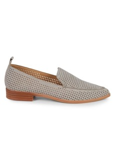 Dolce Vita Kennie Perforated Suede Point-Toe Loafers