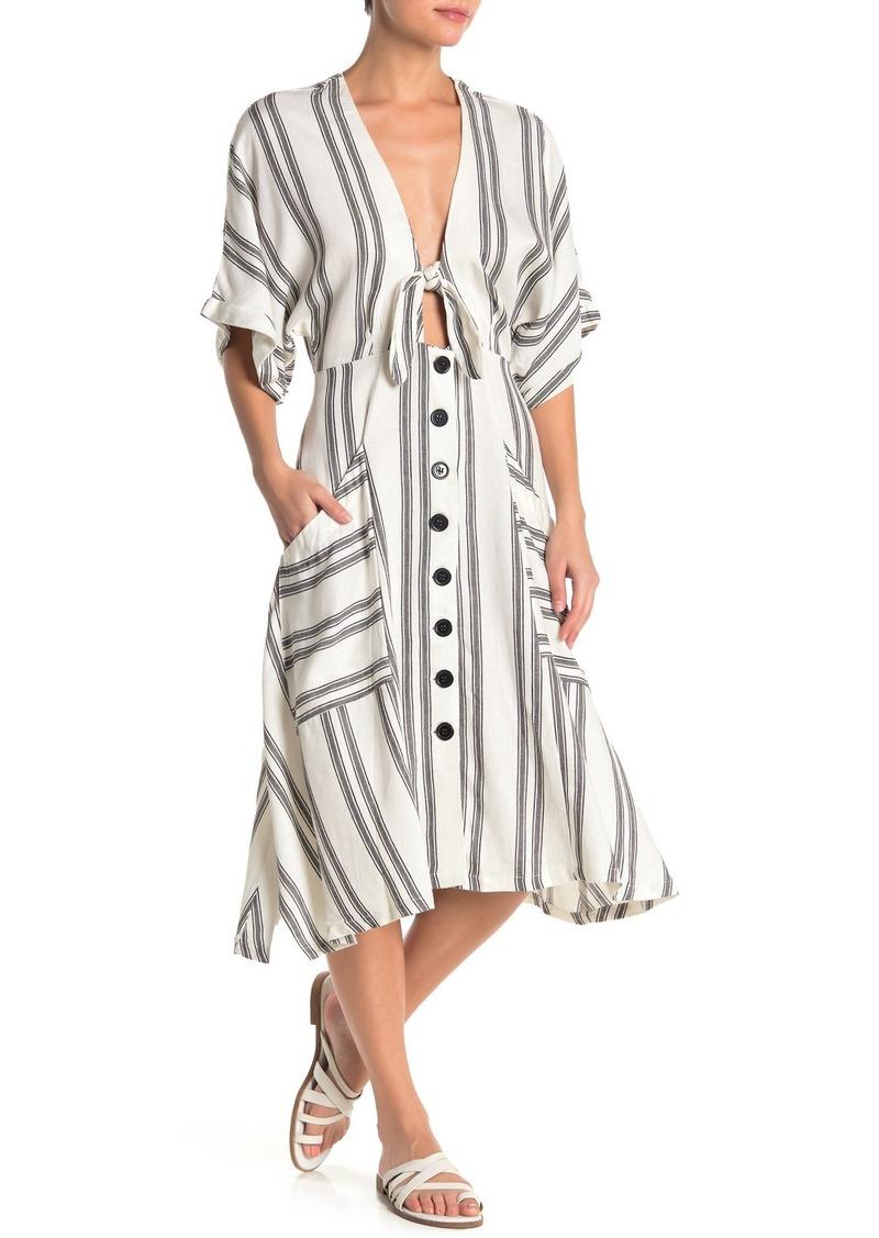 Dolce Vita Mid Calf Front Tie Dress