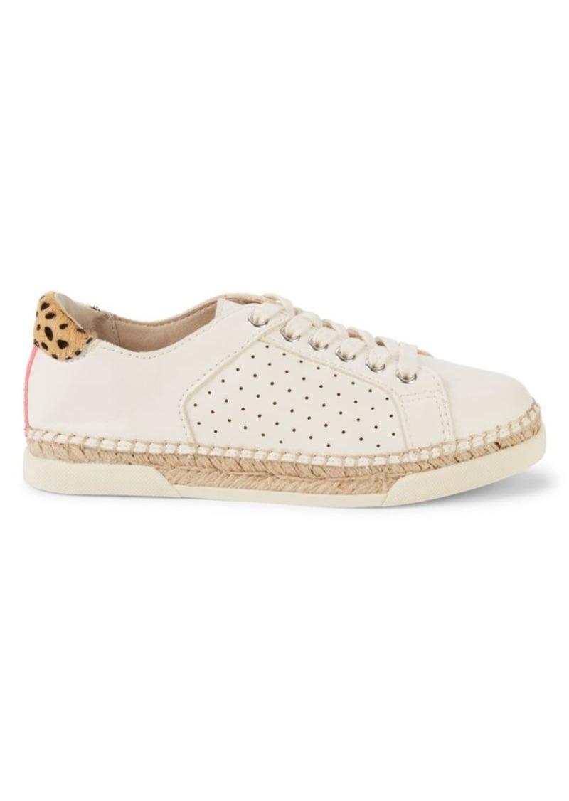 Dolce Vita Migel Calf Hair-Trim Espadrille Sneakers