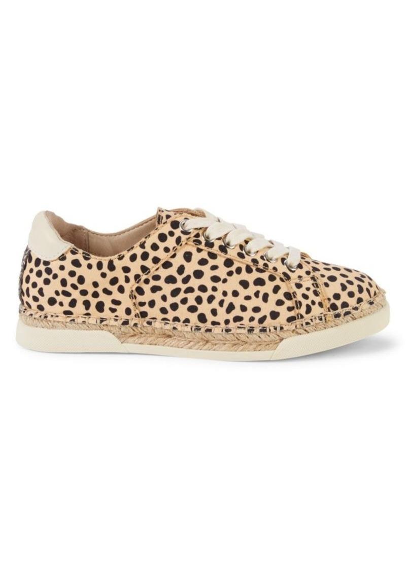 Dolce Vita Migel Leopard-Print Canvas Espadrille Sneakers