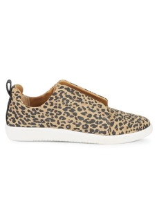 Dolce Vita Naffy Leopard-Print Slip-On Sneakers