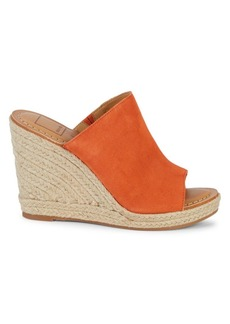 Dolce Vita Nailah Suede Mule Platform Wedge Sandals