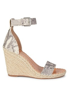 Dolce Vita Noor Leather Espadrille Wedge Sandals