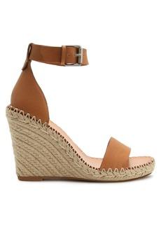 Dolce Vita Noor Leather Raffia Platform Wedge Sandals