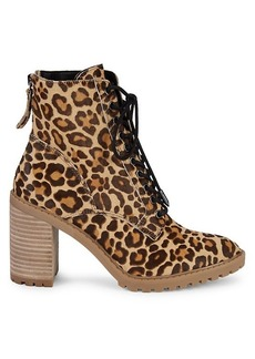 Dolce Vita Norma Leopard Leather & Dyed Calf Hair Boots
