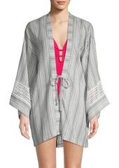 Dolce Vita Printed Cotton Kimono Coverup