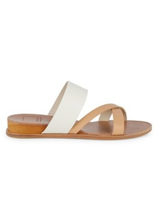 Dolce Vita Prysm Embossed Criss-Cross Wedge Sandals