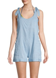 Dolce Vita Sleeveless Chambray Romper