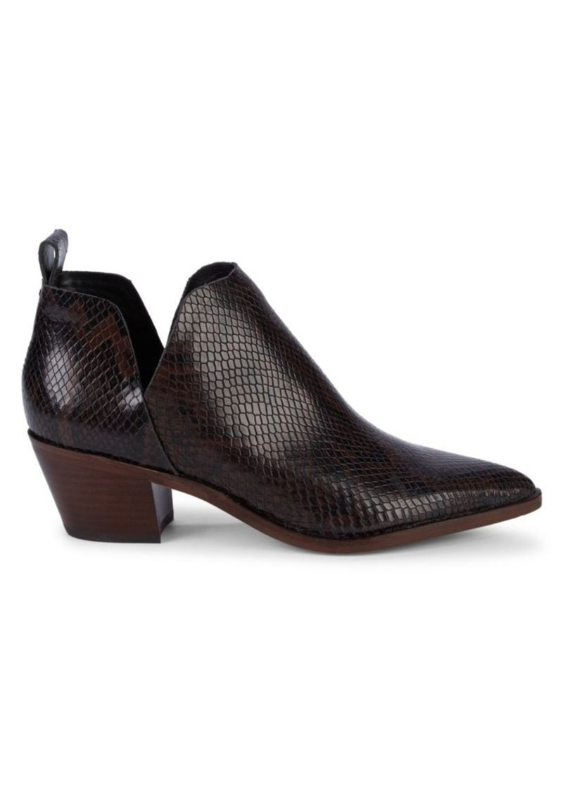 Dolce Vita Sonni Snake-Embossed Leather Booties