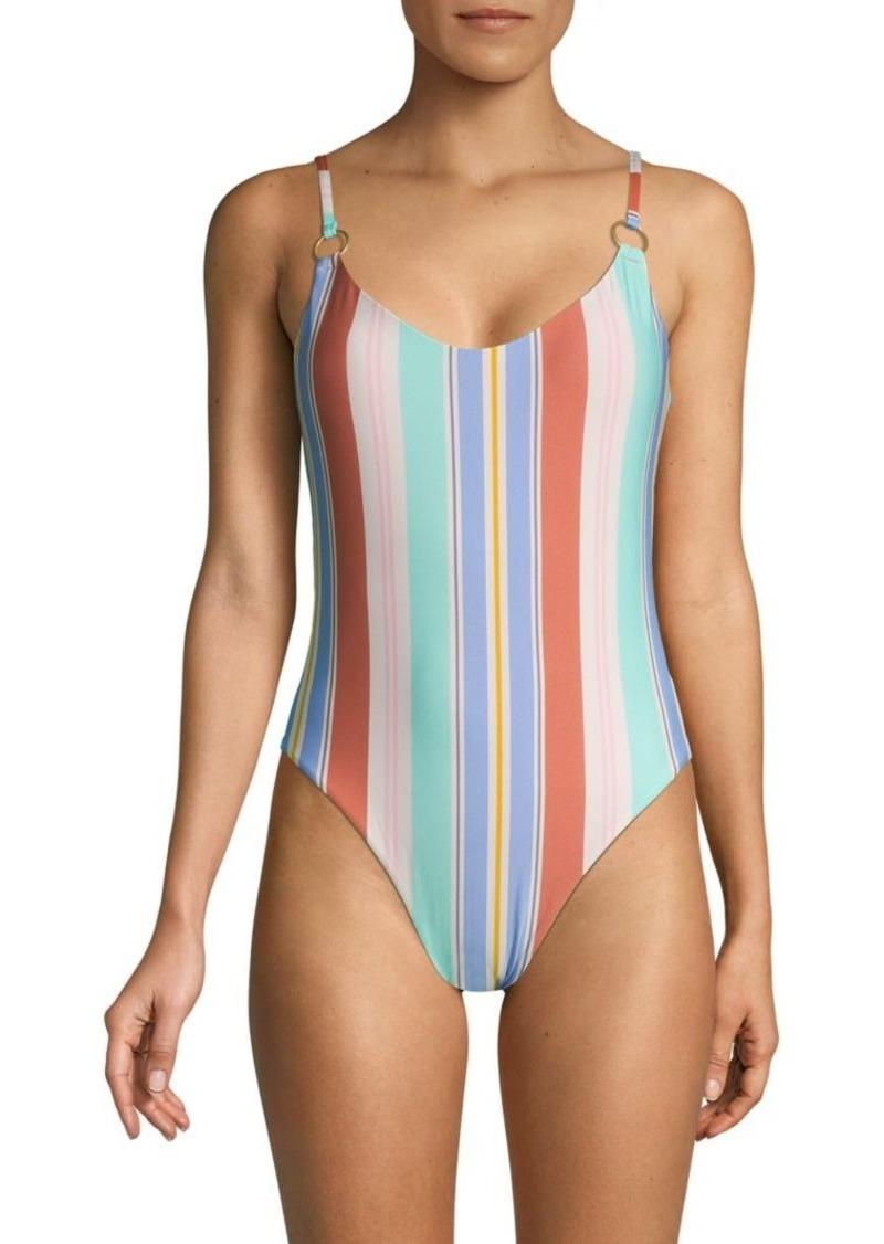 Dolce Vita Striped 1-Piece Swimsuit