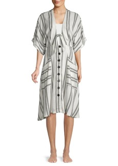 Dolce Vita Striped Tie-Front Cover-Up