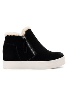Dolce Vita Suede Faux Shearling-Trim High-Top Sneakers