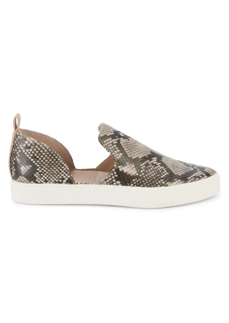 Dolce Vita Sykes Snakeskin-Print Faux Leather d'Orsay Sneakers