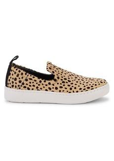 Dolce Vita Tag Leopard-Print Calf Hair Slip-Ons