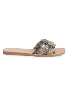 Dolce Vita Textured Snake-Print Sandals