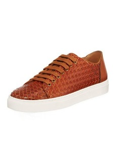 Donald J Pliner Alto Men's Textured Leather Lace-Up Sneakers