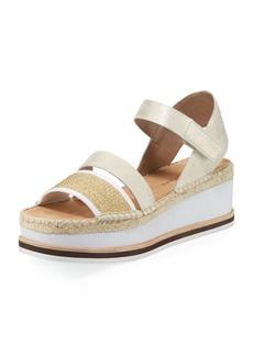 Donald J Pliner Anie Platform Mesh/Metallic Brush-Off Wedge Sandals