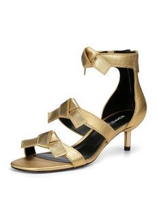 Donald J Pliner Cady Metallic Leather Bow Sandals
