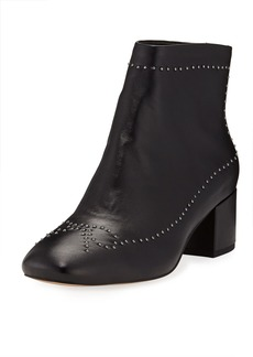 Donald J Pliner Cafne Bow Studded Leather Booties