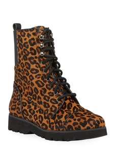 Donald J Pliner Camren Leopard-Print Hiker Boots