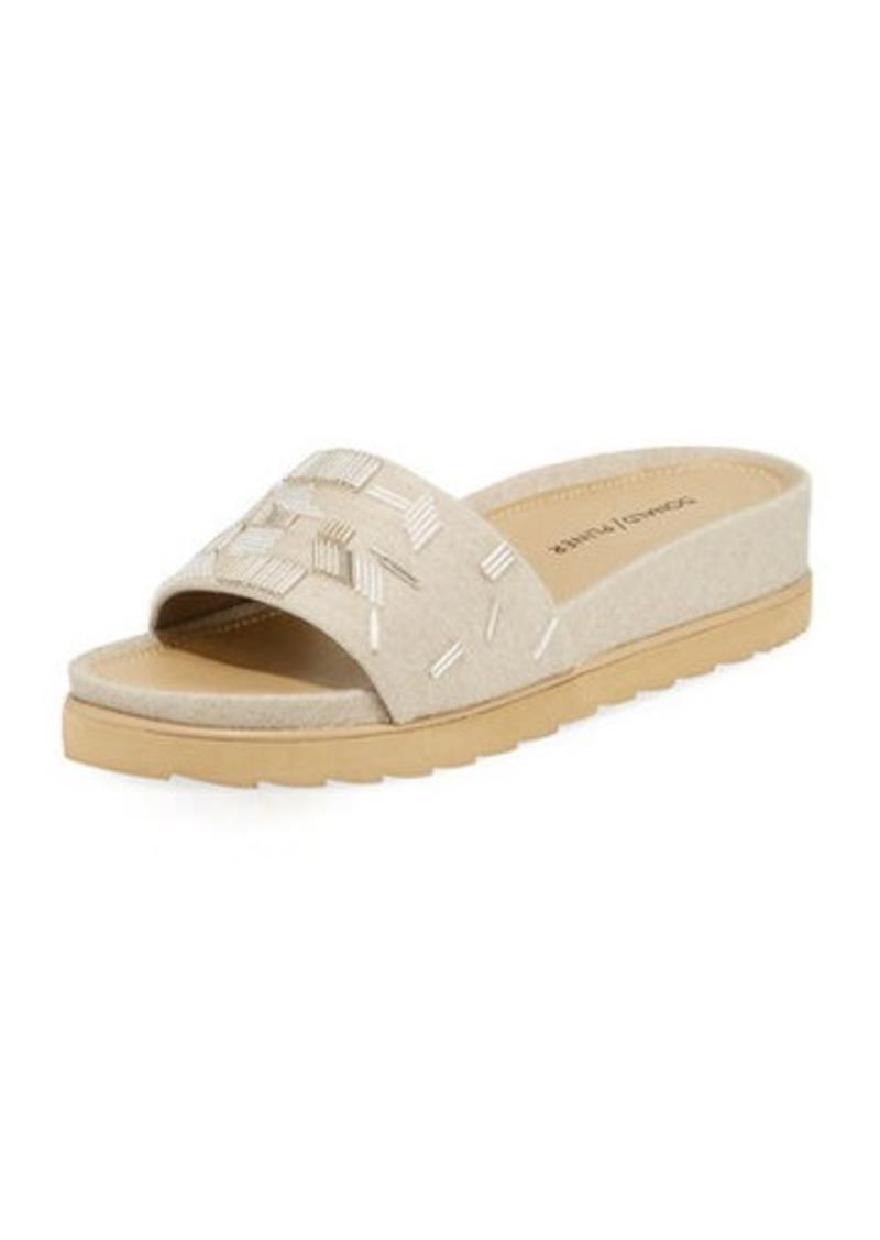 c04356b75a Donald J Pliner Cava Felt Beaded Slide Sandal Now $59.00