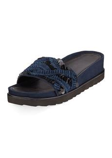 Donald J Pliner Cava Suede Slide Sandals