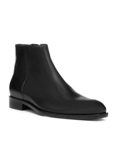 Donald J Pliner Almond Toe Leather Ankle Boots