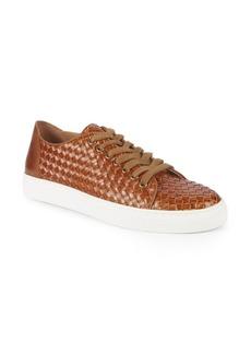 Donald J Pliner Alto Basket-Weave Leather Sneakers