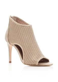 Donald J Pliner Ashlyn Metallic Perforated Peep Toe Booties