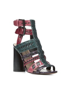 Donald J Pliner Bindy Leather Caged Sandals