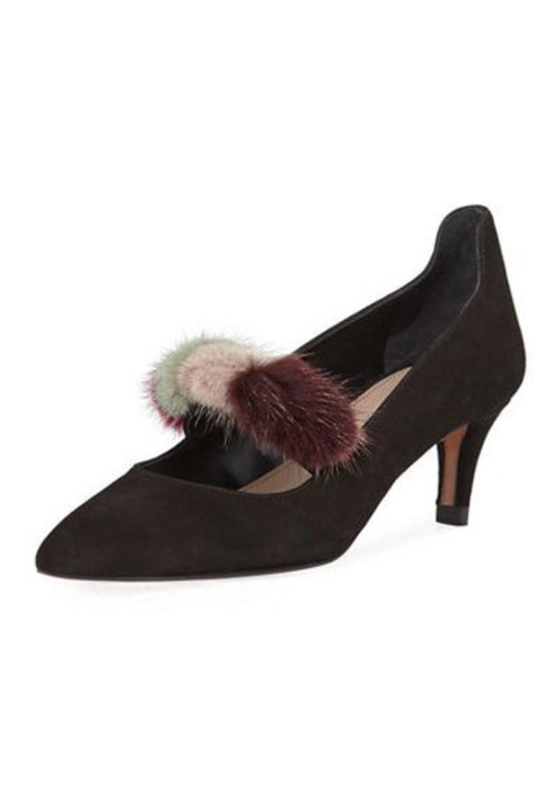 6219368640 Donald J Pliner Donald J Pliner Blake Fur Kitten-Heel Pump   Shoes