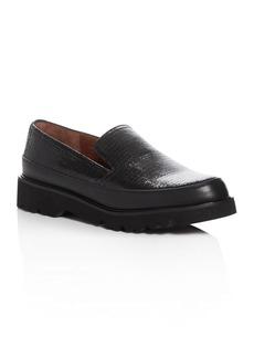 Donald J Pliner Coco Crackled Leather Platform Loafers