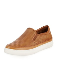 Donald J Pliner Corbyn Men's Perforated Leather Slip-On Sneakers