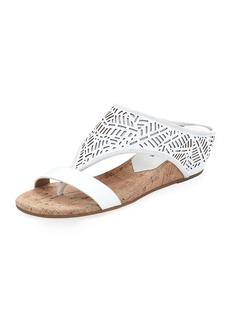 Donald J Pliner Darin Laser-Cut Demi-Wedge Sandal