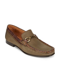 Donald J Pliner Darrin Canvas Horsebit Loafers
