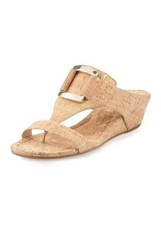 Donald J Pliner Daun Buckle Cork Wedge Sandal