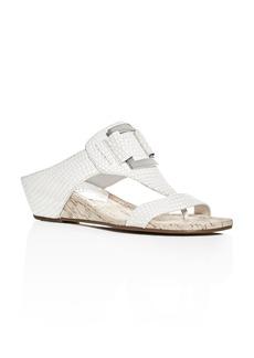 Donald J Pliner Daun Snake-Print Wedge Sandals