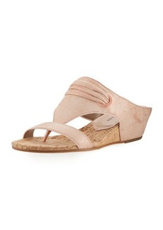 Donald J Pliner Dionne Demi-Wedge Metallic Leather Slide Sandal