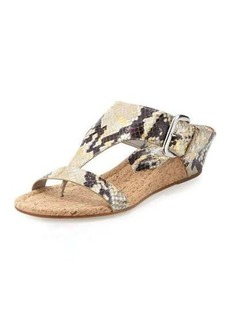 Donald J Pliner Doli Metallic Snake Wedge Sandal
