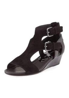 Donald J Pliner Eden Dual-Buckle Wedge Sandal