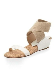 Donald J Pliner Eeva Crisscross Stretch Wedge Sandal