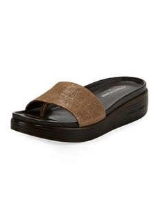 Donald J Pliner Fiji Distressed Metallic Slide Sandal