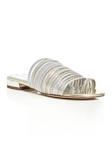 Donald J Pliner Frea Metallic Strappy Slide Sandals