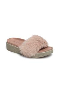 Donald J Pliner Furfi Genuine Rabbit Fur Slide Sandal (Women)