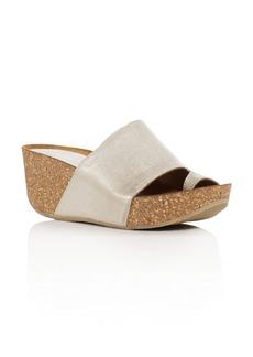 Donald J Pliner Ginie Metallic Leather Platform Wedge Sandals