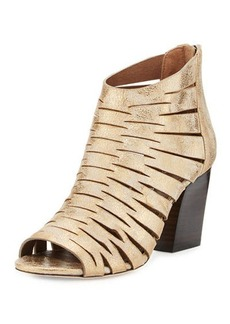 Donald J Pliner Greece Laser-Cut Open-Toe Bootie