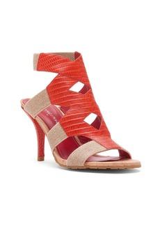 Donald J Pliner Gwen Leather-Trimmed Cutout Sandals