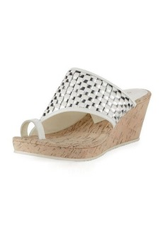 Donald J Pliner Gyersp Woven Toe-Ring Wedge Sandal