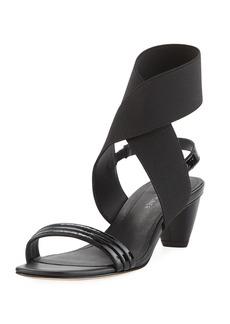 Donald J Pliner Hira Crinkled Patent Leather Low-Heel Sandal