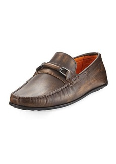 Donald J Pliner Imari Distressed Leather Loafer